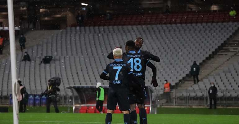 Ghana forward Caleb Ekuban scores to win Turkish Super Cup tile for Trabzonspor