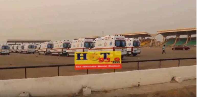 Akufo-Addo Commissions Parked Ambulances Today