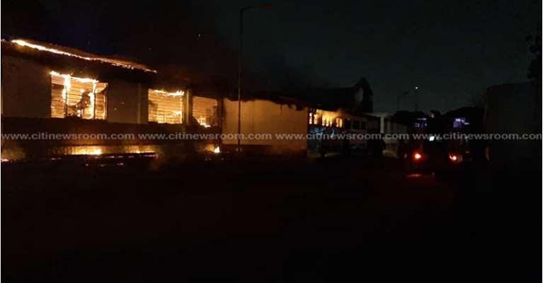 Fire Destroys Accra Academy Dormitory Again