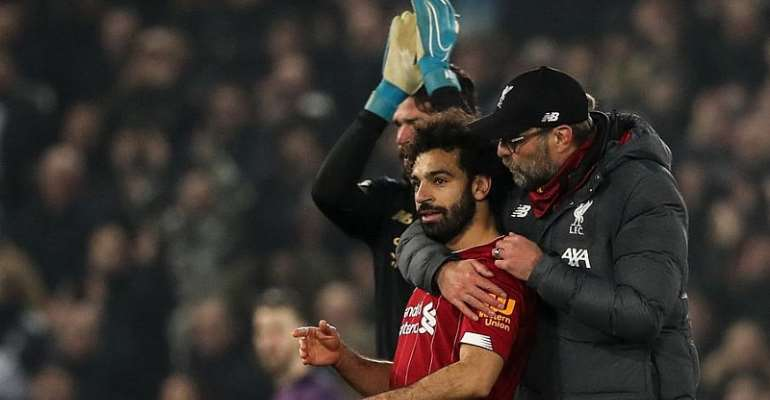 Mo Salah and Jurgen Klopp