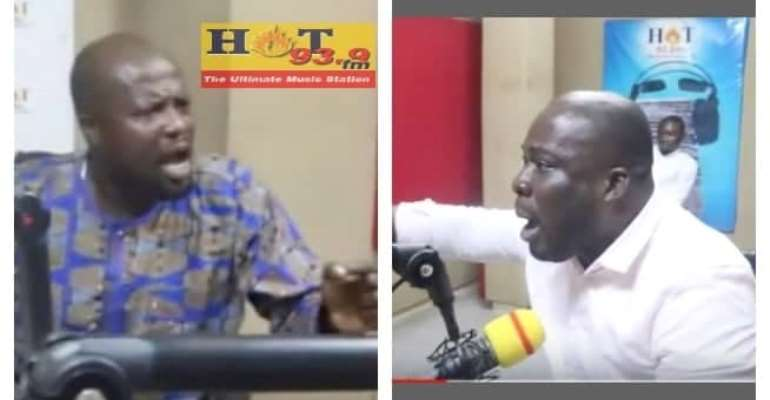 [Video] NPP, NDC Communicators Fight In Hot Fm Studio