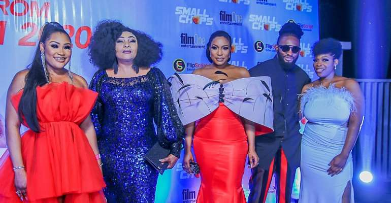 Peter Okoye, Ay, Lily Afe, Chinedu Ikedieze, Falz Turn Up For Chika Ike's Premiere Of Small Chops Movie