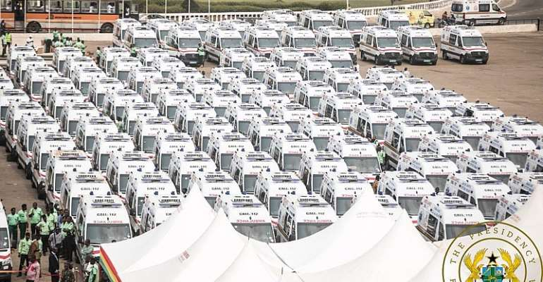 [Photos] 307 Parked Ambulances Finally Commissioned