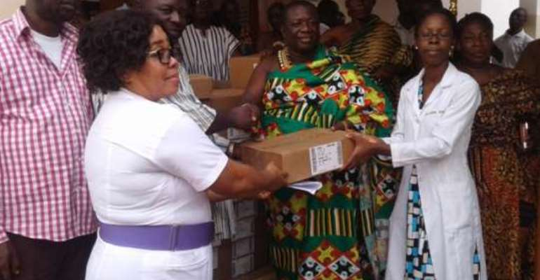 MP donates drugs to New Abirem Government Hospital
