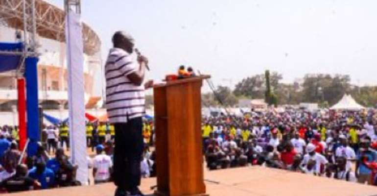 Vice-President Bawumia addressing NPP Youth rally in Tamale