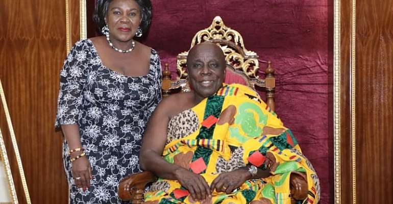 Okyehene Commends Sanitation Minister For Reducing Filth