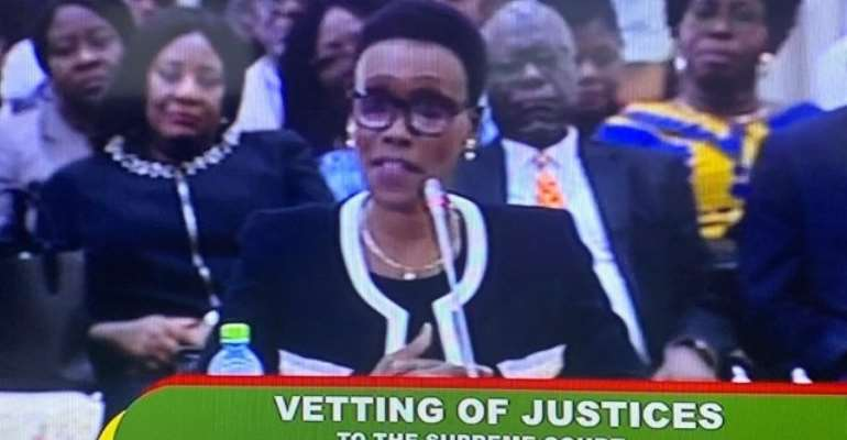 Justice Avril Lovelace-Johnson before the Appointments Committee