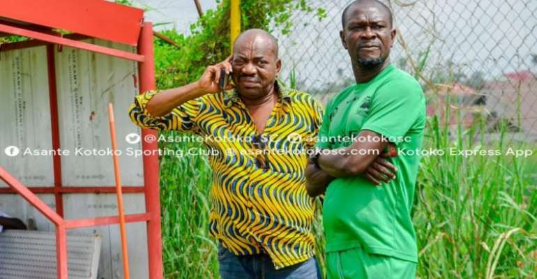George Amoako and CK Akonnor at Kotoko