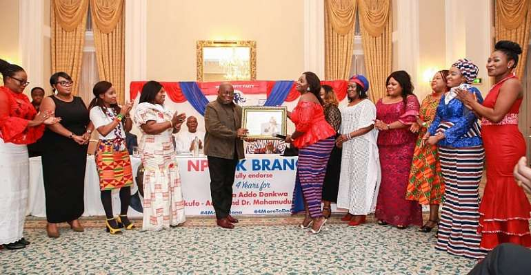 NPP UK Women's Wing Honours Akufo-Addo