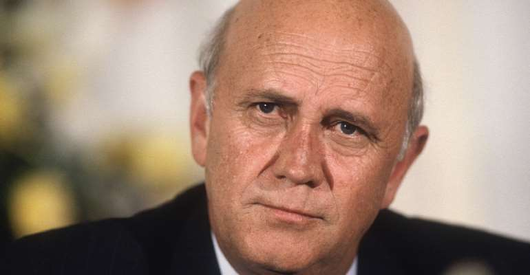 FW de Klerk, the last president of apartheid South Africa - Source: Getty Images
