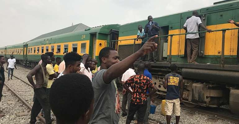 Tarkwa Train Breaks Down On Test Ride; Passengers Stranded