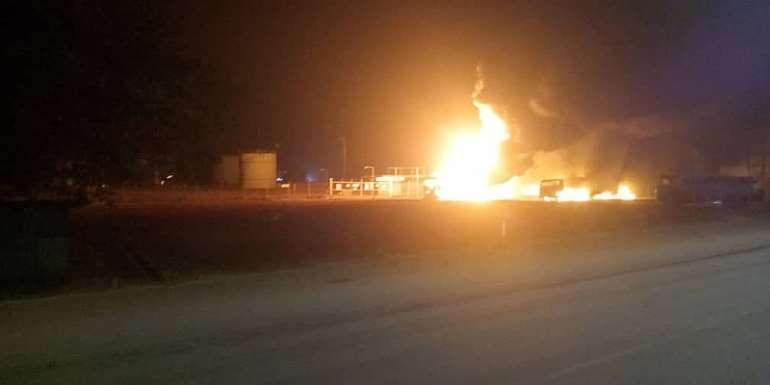 Fire Guts Three Fuel Tankers Near BOST Depot At Buipe