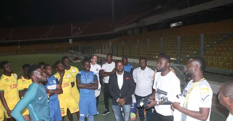 Bright Addai Supports Legon Cities FC With Kits