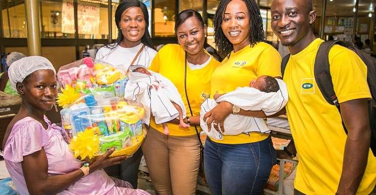 "MTN Ghana Foundation Celebrates ""Christmas Babies"" In Nine Hospitals"