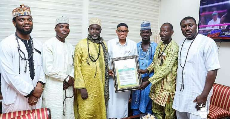 Tijaniya Muslim Council Honours Mustapha Hamid