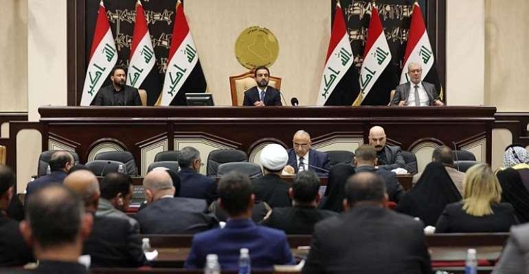 Iraqi parliament media office/Handout via REUTERS