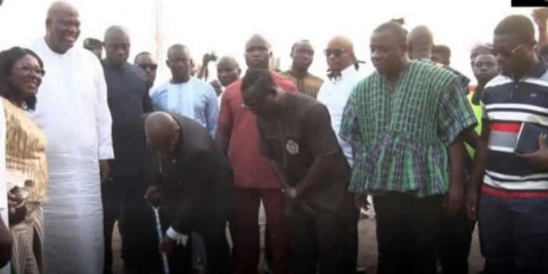 Akufo-Addo Breaks Ground For Alajo AstroTurf