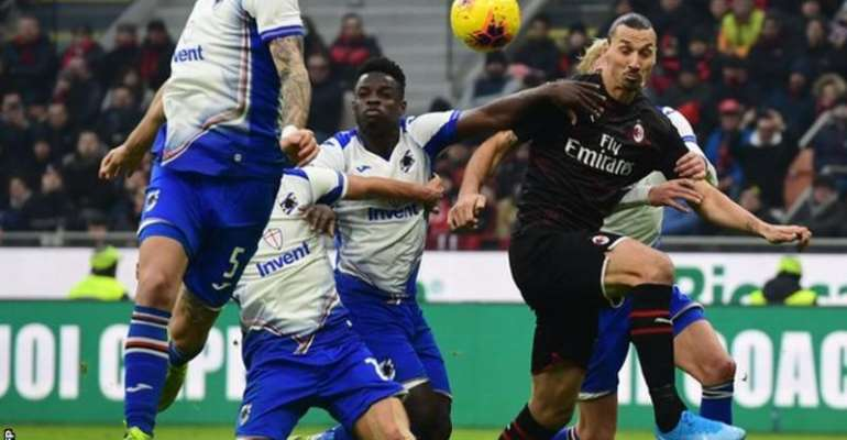 Serie A: Ibrahimovic Comes On As Substitute On Milan Return