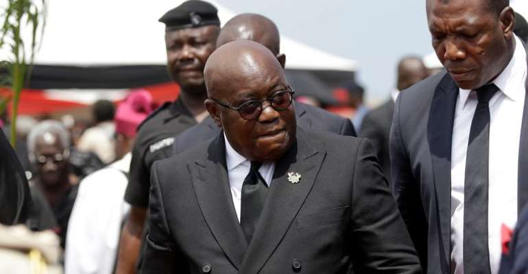 The Ghanaian leader, Akufo Addo, photo credit: Ghana media