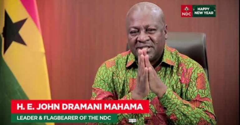 [Full Statement] Mahama's New Year Message To Ghanaians