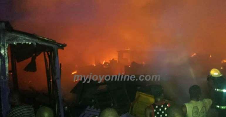 Fire Destroys Pharmacy, Shops At Asante Bekwai
