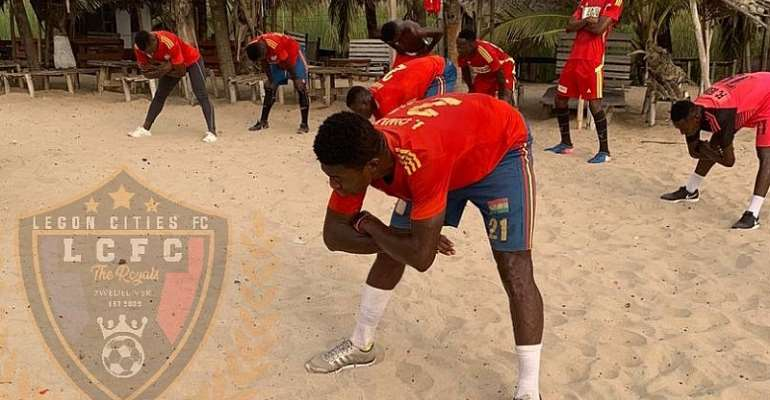 Legon Cities FC Step Up Preparations For Dreams FC Clash With Beach Work-Out