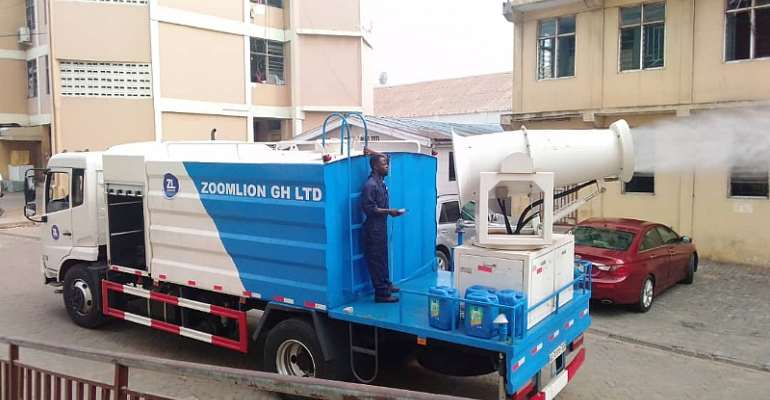 Accra: Disinfections of tertiary institutions begin