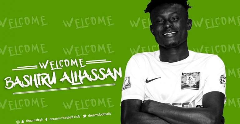 Dreams FC's SIXTH Signing Bashiru Alhassan Debut In G8 Defeat To Aduana Stars