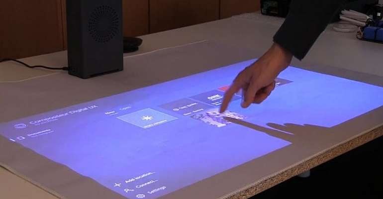 Cutting edge French startup unveils smart projector for tactile surfaces at CES