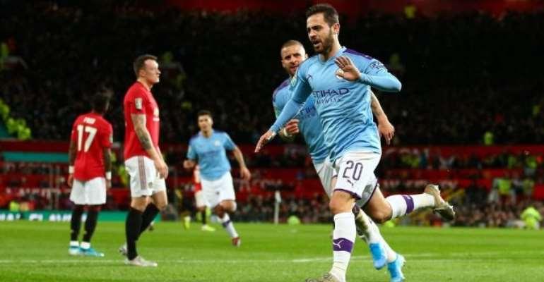 Man City Overwhelm Man Utd In Carabao Cup Semi-Final First Leg