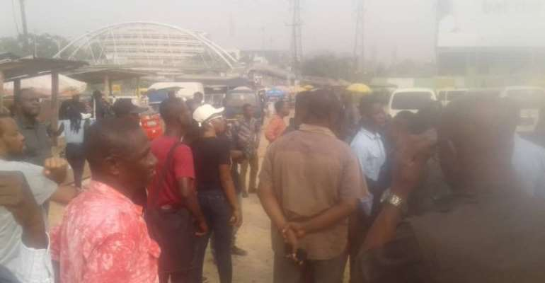 Aggrieved Menzgold Customers March To NAM1 House To Retrieve Cash