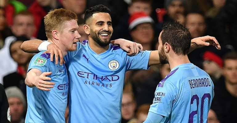 Man City Outclass Man Utd 3-1 In Carabao Cup [HIGHLIGHTS]