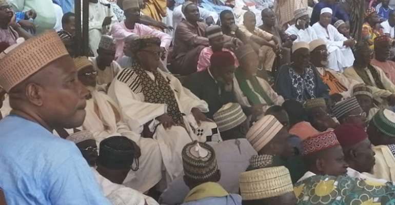 A section of the Muslim clerics praying for President Akufo-Addo