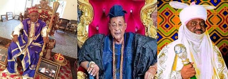 HRH Obizue III of Amauzari, Lamidi Adeyemi III Alafin of Oyo, Ado Bayero, Emir of Kano
