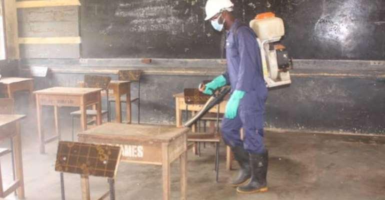 Ahead of reopening: Basic, Senior High Schools undergo massive disinfection