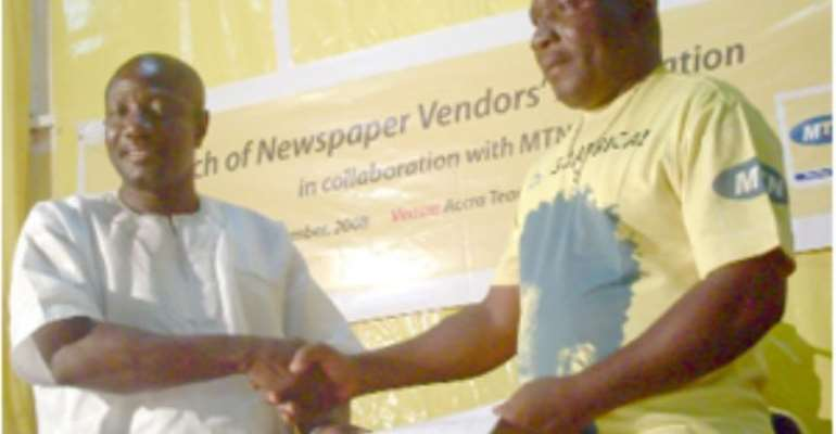 MTN Engages Newspaper Vendors
