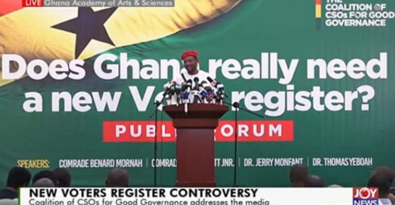 [Watch Live]: CSOs Hold Forum To Discuss Controversial New Voters' Register