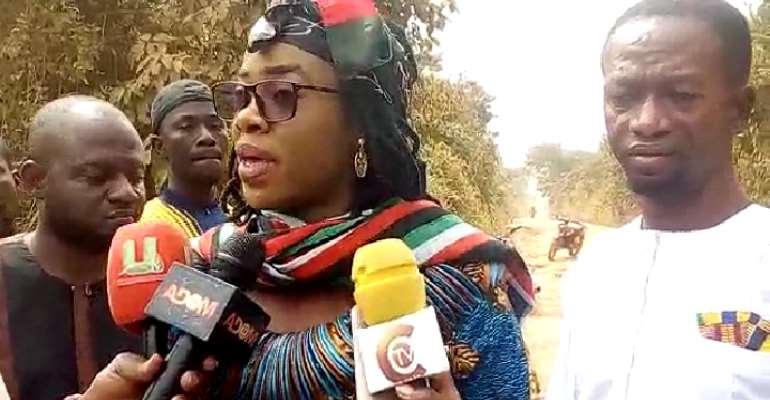 Sunyani West NDC Parliamentary Candidate Reshape Nsuatre-Kwabena Kuma Cocoa Road