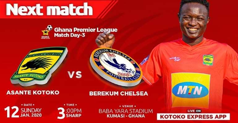 Kotoko Announce Ticket Prices For Berekum Chelsea Clash