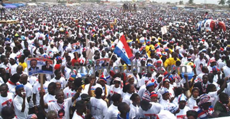 NPP supporters at the 2008 Kasoa rally