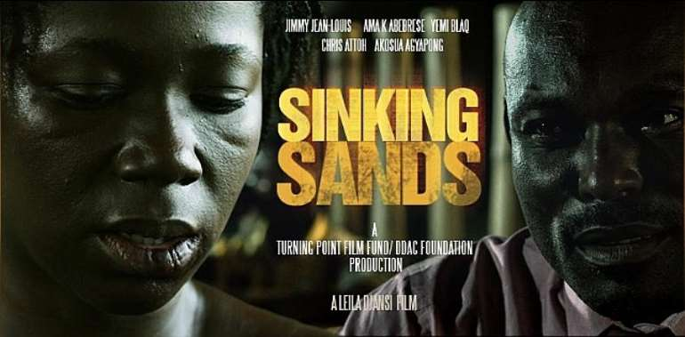 FOR THE FIRST TIME EVER ON GHANAIAN TELEVISION, 'CINE AFRIK' PREMIERES 'SINKING SANDS'