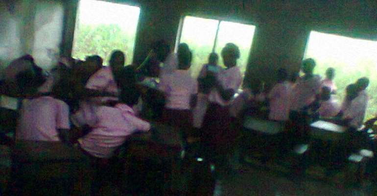 Education In Akwa Ibom State In Shambles, As Student Write Exams Under Leaked Roofs And Rains