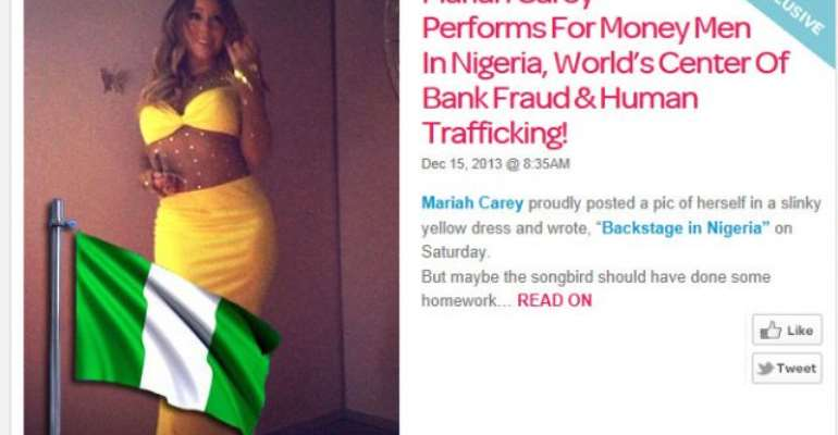 U.S Website Scolds Mariah Carey For Coming To Perform In A Country Full Of Fraudulent Acts