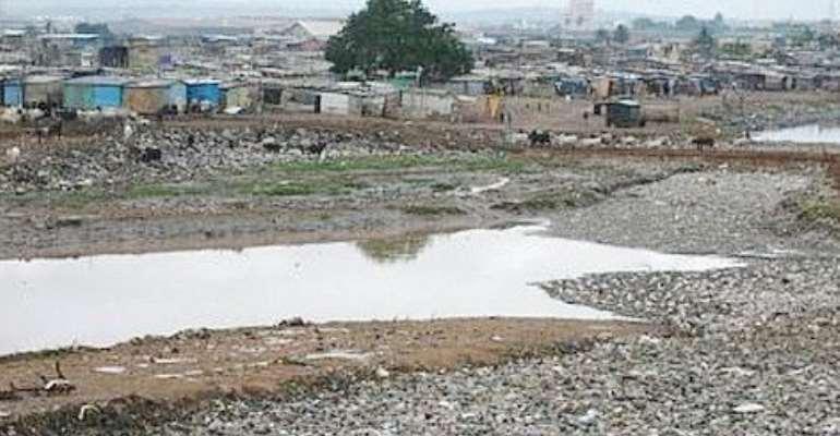 Inhabitants Of Korle Gonno Look Dejected