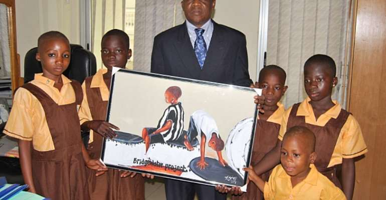 Justice Atuguba With Some Of The Children