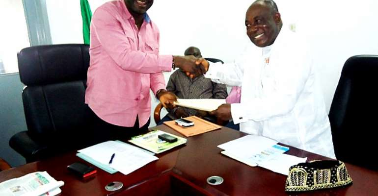 Rivers West Senatorial Aspirant, Hon. Prince Adonye Wari Visits State PDP Chairman
