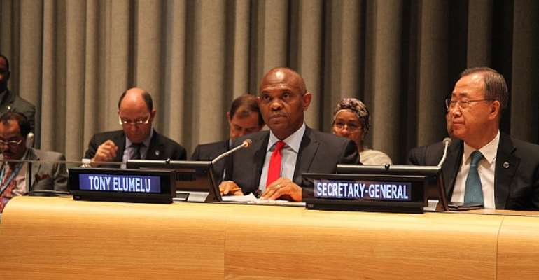 Tony Elumelu Pitches Job Creation And Access To Electricity To The United Nations, As The Next Set Of MDG Priorities