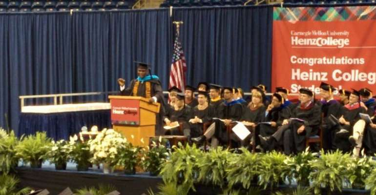 Ghanaian Student Delivers Commencement Address at Carnegie Mellon University