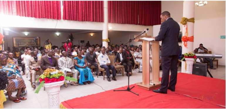 Managing D irector of Anglogold Ashanti Iduapriem Mine Sicelo Ntuli addressing the Audience.