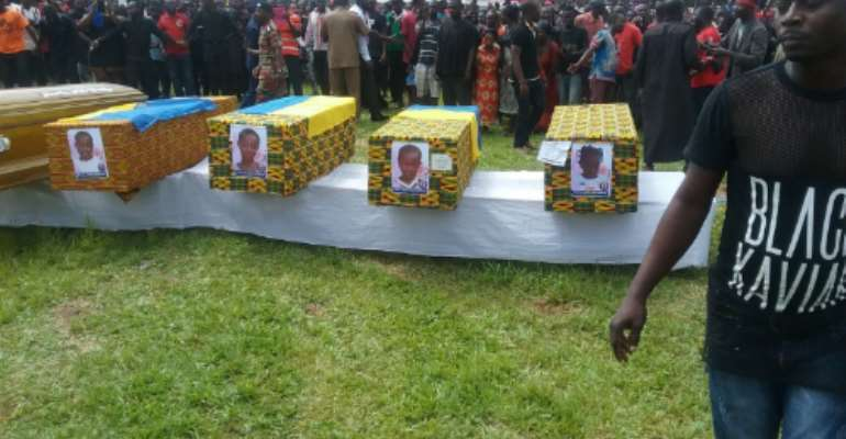 Six Asante Mampong Fire Victims Buried